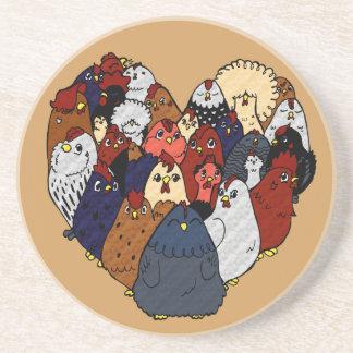 Chicken Love Coaster