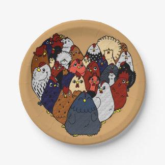 Chicken Love Paper Plate