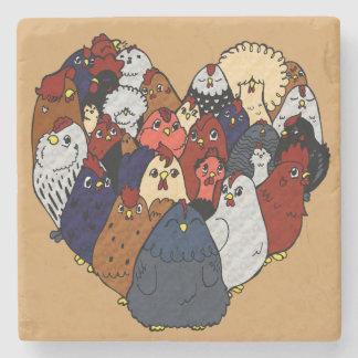 Chicken Love Stone Coaster