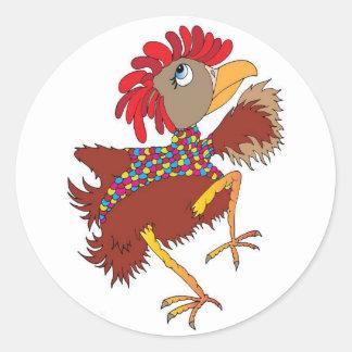 Chicken lovers classic round sticker