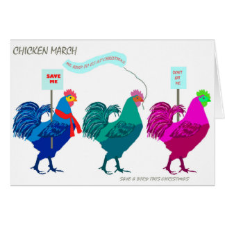 Chicken March Card