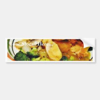 Chicken Mushrooms Brocolli Bumper Sticker