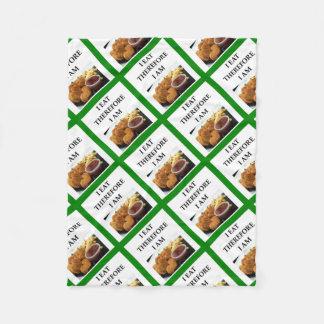 chicken nuggets fleece blanket