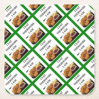 chicken nuggets square paper coaster