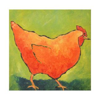 Chicken (one) canvas print