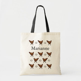 Chicken or the Egg, Add Your Name Budget Tote Bag