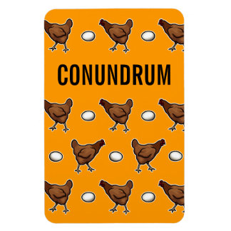 Chicken or the Egg Conundrum Rectangular Photo Magnet