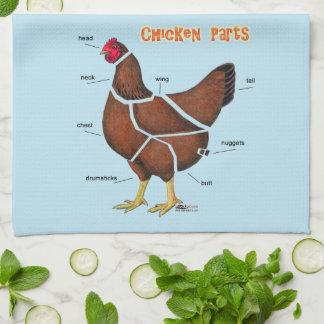 Chicken Parts Tea Towel