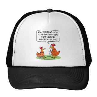 chicken people doctor patient soup hats