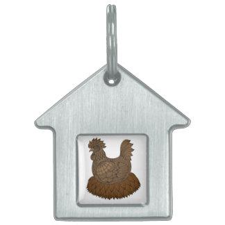 Chicken Pet ID Tag