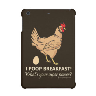 Chicken Poops Breakfast Funny Design