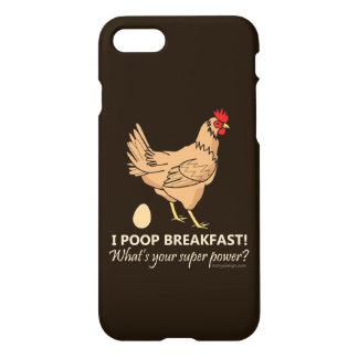 Chicken Poops Breakfast Funny Design iPhone 7 Case