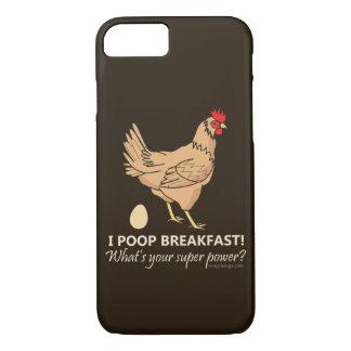 Chicken Poops Breakfast Funny Design iPhone 8/7 Case