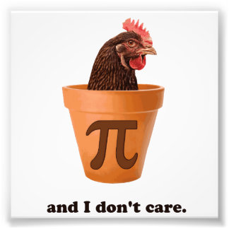 Chicken Pot Pi (and I don't care) Photo Print