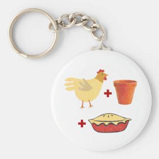 Chicken Pot Pie Basic Round Button Key Ring