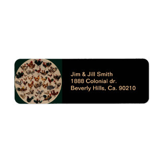 Chicken Poultry Of The World Return Address Label
