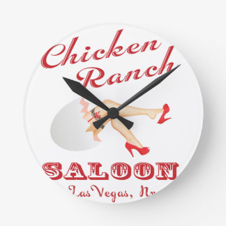 Chicken Ranch Saloon Las Vegas Round Clock