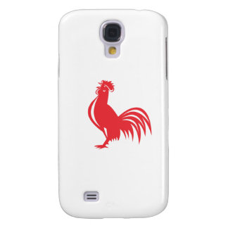 Chicken Rooster Crowing Retro Samsung Galaxy S4 Cover