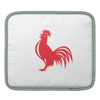 Chicken Rooster Crowing Retro Sleeves For iPads