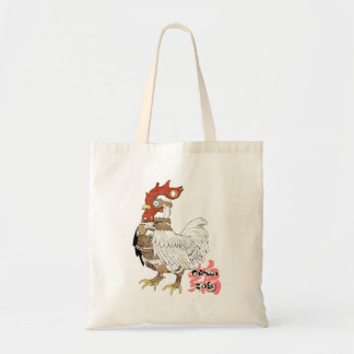 Chicken (steam flat tire) tote bag