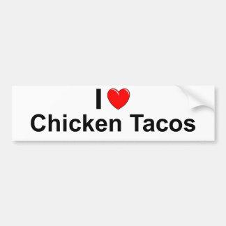 Chicken Tacos Bumper Sticker