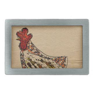 Chicken Vintage Rectangular Belt Buckles