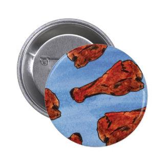 Chicken Wings 6 Cm Round Badge