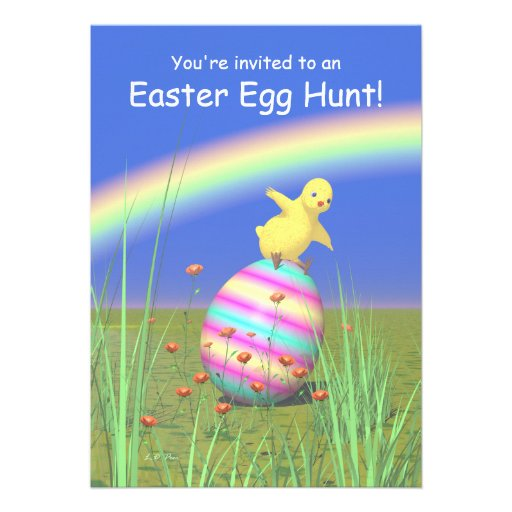 Chicken Wings Easter Egg Hunt Personalized Invite
