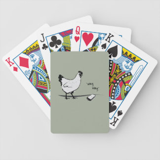 Chicken with Cell Phone Bicycle Playing Cards