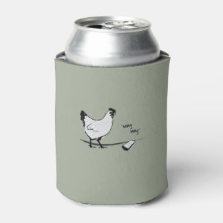 Chicken with Cell Phone Can Cooler