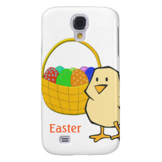 Chicken with Easter Basket of Eggs Samsung Galaxy S4 Case