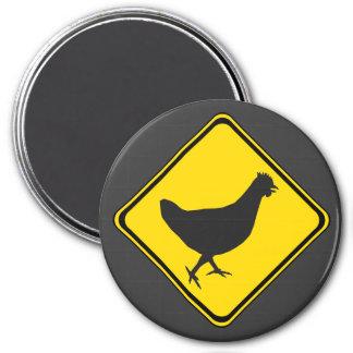 Chicken Xing! 7.5 Cm Round Magnet