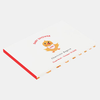Chicken Yellow Baby Chick Personalized Guest Book