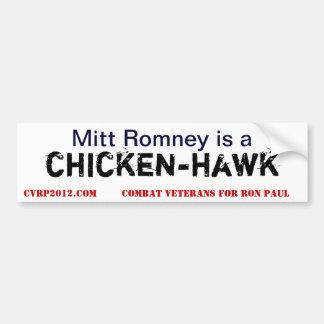 ChickenHawk Mitt Bumper Sticker