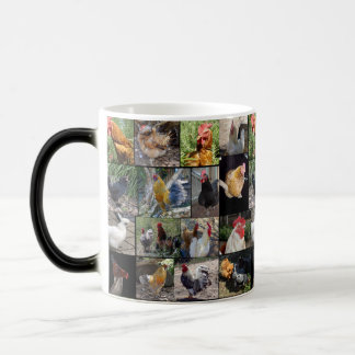Chickens And Roosters , Collage,Magic Morph Mug