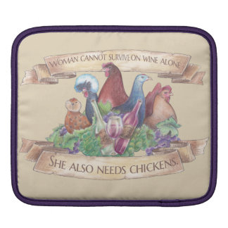 Chickens and Wine iPad Sleeve