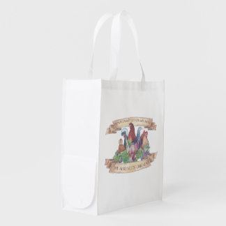 Chickens and Wine Reusable Grocery Bag