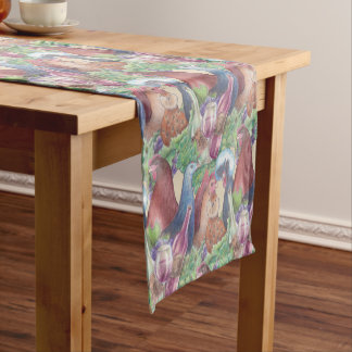 Chickens and Wine Short Table Runner