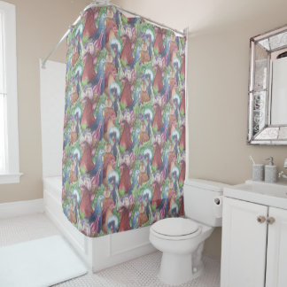 Chickens and Wine Shower Curtain