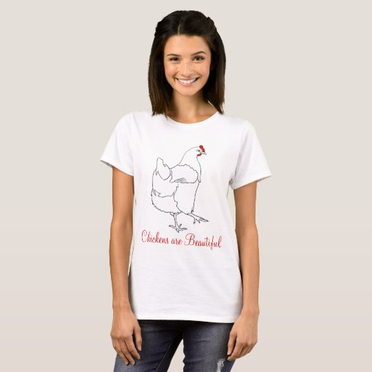 Chickens are Beautiful Funny Quirky Colourful Art T-Shirt