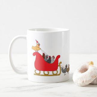 Chickens Christmas Coffee Mug