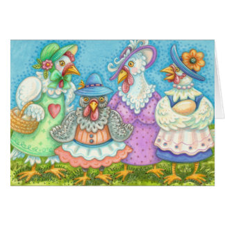 CHICKEN'S HEN PARTY NOTE CARD Blank