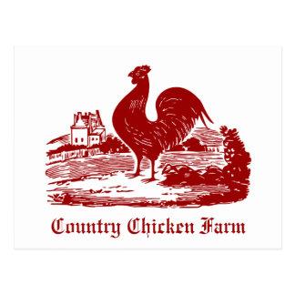 Chickens Invitation for Picnic, Farmer's Market, B Post Card