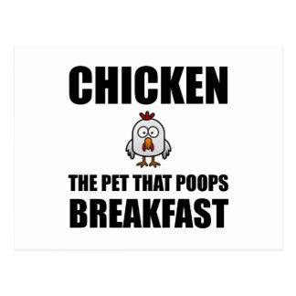 Chickens Poop Breakfast Postcard
