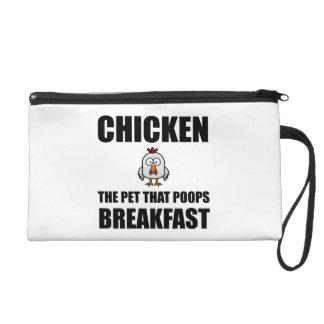 Chickens Poop Breakfast Wristlet Purses