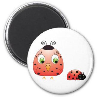 chickie B a Ladybug Magnet