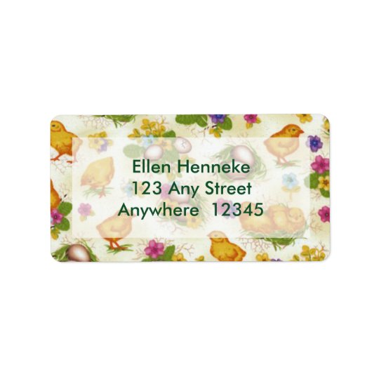 Chicks and Easter Eggs Address Label