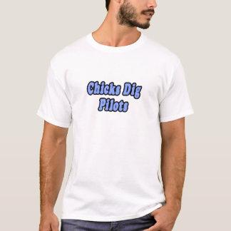 Chicks Dig Pilots T-Shirt