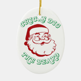 Chicks Dig The Beard Ceramic Oval Decoration