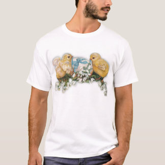 Chicks, Egg & Snowdrop Blossoms T-Shirt